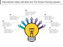 Improvement Ideas With Bulb And The Arrows Pointing Upward