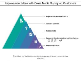 Improvement Ideas With Cross Media Survey On Customers