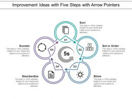 Improvement Ideas With Five Steps With Arrow Pointers