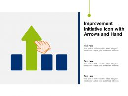 Improvement Initiative Icon With Arrows And Hand