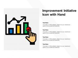 Improvement Initiative Icon With Hand