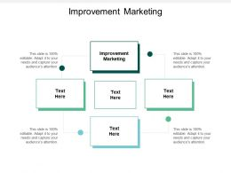Improvement Marketing Ppt Powerpoint Presentation Pictures Mockup Cpb