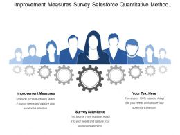 Improvement Measures Survey Salesforce Quantitative Method Review Major Sales