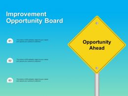 Improvement Opportunity Board