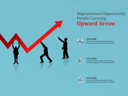 Improvement Opportunity People Carrying Upward Arrow