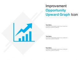 Improvement Opportunity Upward Graph Icon