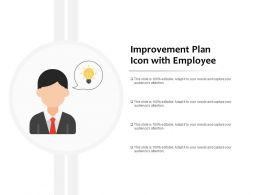 Improvement Plan Icon With Employee