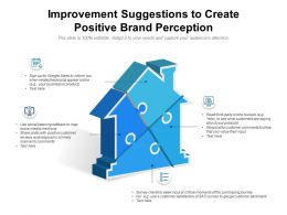 Improvement Suggestions To Create Positive Brand Perception