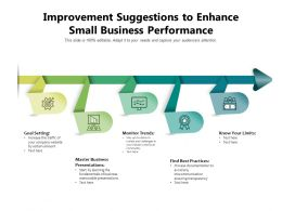 Improvement Suggestions To Enhance Small Business Performance