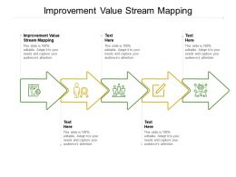 Improvement Value Stream Mapping Ppt Powerpoint Presentation Portfolio Infographic Cpb
