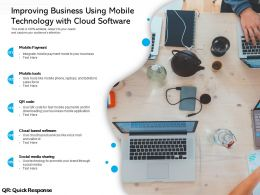 Improving Business Using Mobile Technology With Cloud Software