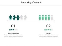 Improving Content Ppt Powerpoint Presentation Gallery Design Ideas Cpb