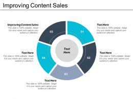 Improving Content Sales Ppt Powerpoint Presentation Icon Infographics Cpb