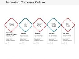 Improving Corporate Culture Ppt Powerpoint Presentation Clipart Cpb