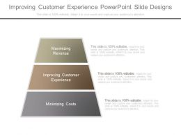 Improving Customer Experience Powerpoint Slide Designs