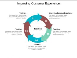 Improving Customer Experience Ppt Powerpoint Presentation Styles Inspiration Cpb