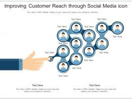 Improving Customer Reach Through Social Media Icon
