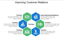 Improving Customer Relations Ppt Powerpoint Presentation Slides Guide Cpb