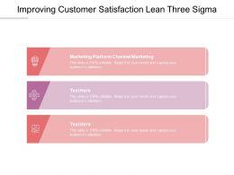 Improving Customer Satisfaction Lean Three Sigma Ppt Powerpoint Presentation Inspiration Slides Cpb