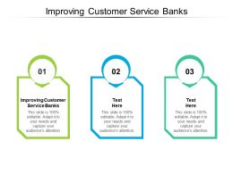 Improving Customer Service Banks Ppt Powerpoint Presentation Pictures Ideas Cpb