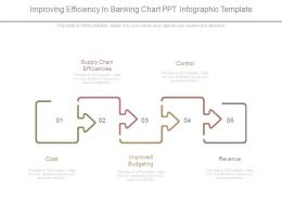 Improving Efficiency In Banking Chart Ppt Infographic Template