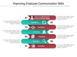 Improving Employee Communication Skills Ppt Powerpoint Presentation Ideas Deck Cpb