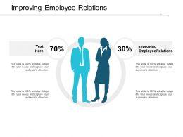 Improving Employee Relations Ppt Powerpoint Presentation Inspiration Slide Portrait Cpb