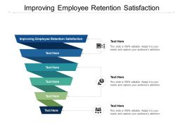 Improving Employee Retention Satisfaction Ppt Powerpoint Presentation Icon Show Cpb