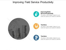 Improving Field Service Productivity Ppt Powerpoint Presentation Gallery Cpb