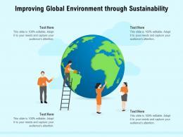 Improving Global Environment Through Sustainability