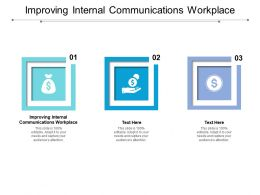 Improving Internal Communications Workplace Ppt Powerpoint Presentation File Elements Cpb