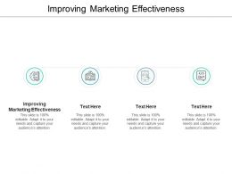 Improving Marketing Effectiveness Ppt Powerpoint Presentation Visual Aids Backgrounds Cpb