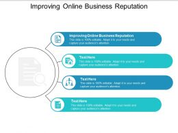 Improving Online Business Reputation Ppt Powerpoint Presentation Summary Slide Cpb