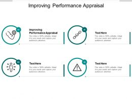 Improving Performance Appraisal Ppt Powerpoint Presentation Visual Aids Cpb
