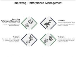 Improving Performance Management Ppt Powerpoint Presentation Designs Cpb