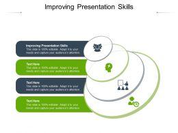 Improving Presentation Skills Ppt Powerpoint Presentation Infographics Layout Ideas Cpb