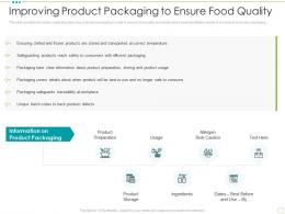 Improving Product Packaging To Ensure Food Quality Food Safety Excellence