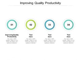 Improving Quality Productivity Ppt Powerpoint Presentation Layouts Influencers Cpb