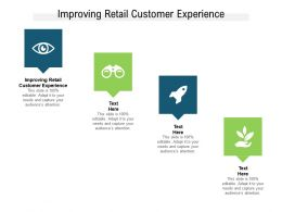 Improving Retail Customer Experience Ppt Powerpoint Presentation Cpb