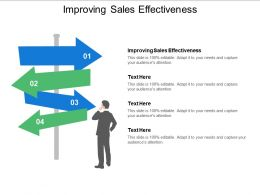 Improving Sales Effectiveness Ppt Powerpoint Presentation Layouts Graphics Tutorials Cpb