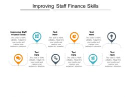 Improving Staff Finance Skills Ppt Powerpoint Presentation Summary Smartart Cpb