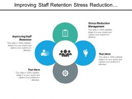Improving Staff Retention Stress Reduction Management Executive Presentation Skill Cpb