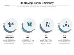 Improving Team Efficiency Ppt Powerpoint Presentation Infographic Template Sample Cpb