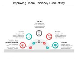 Improving Team Efficiency Productivity Ppt Powerpoint Presentation Styles Deck Cpb
