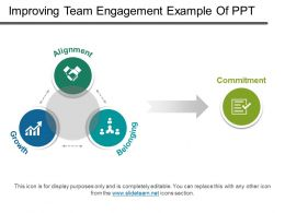 Improving Team Engagement Example Of Ppt