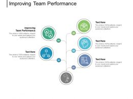 Improving Team Performance Ppt Powerpoint Presentation Infographics File Formats Cpb