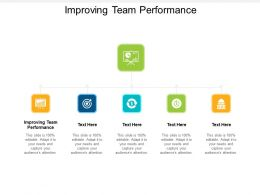 Improving Team Performance Ppt Powerpoint Presentation Styles Format Cpb