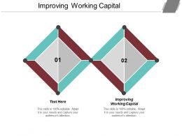 Improving Working Capital Ppt Powerpoint Presentation File Professional Cpb
