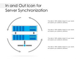 In And Out Icon For Server Synchronization