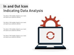 In And Out Icon Indicating Data Analysis